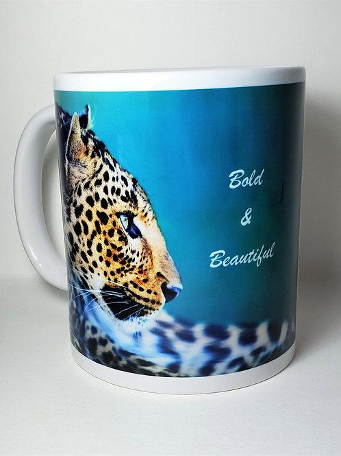 Bold & Beautiful Leopard Print Mug