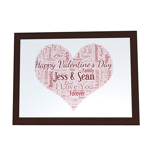 'Valentines Day' Typographical Print