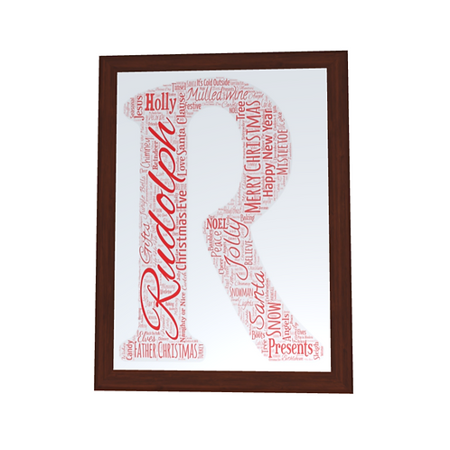 'Any Letter' Christmas Typographical Print