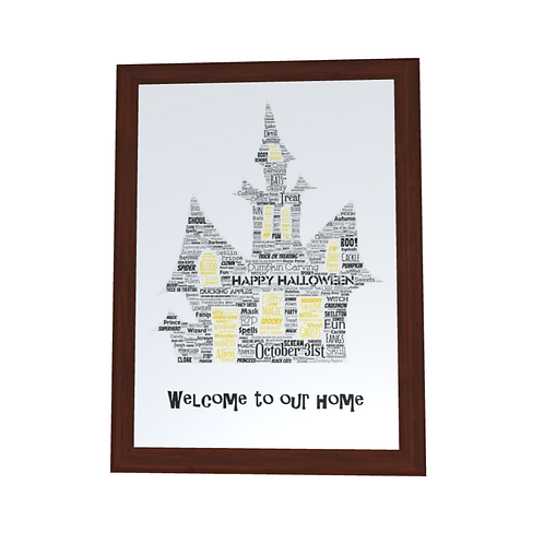 'Halloween House' Typographical Print