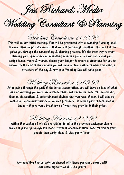 4 Wedding Consultant & Planning Packages