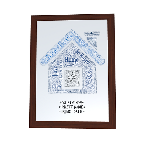 'New Home' Typographical Print