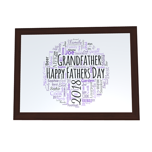 'Fathers Day' Typographical Print