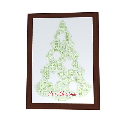 'Christmas' Typographical Print