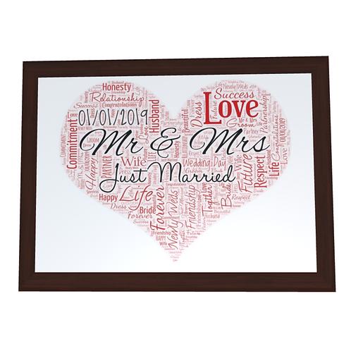 'Wedding Day' Typographical Print