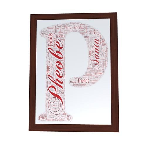 'Any Name' Christmas Typographical Print