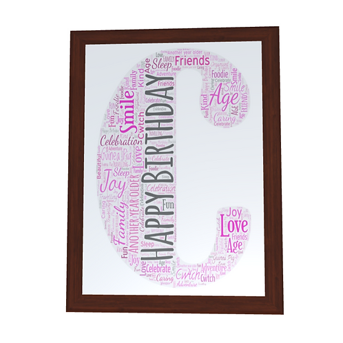 'Any Letter' Typographical Print