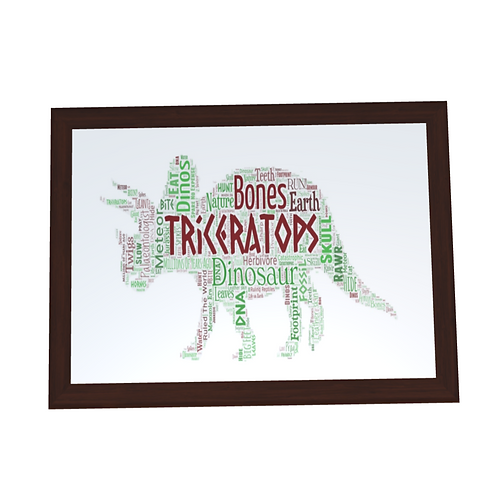 'Triceratops' Typographical Print