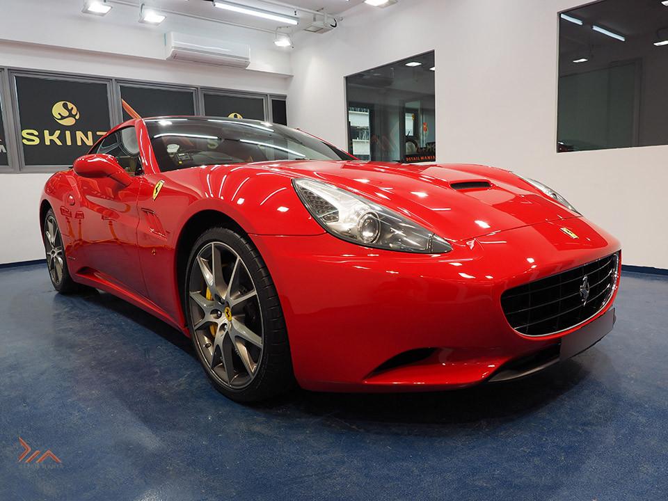 Ferrari California Sitting Pretty with Skinz Glassjacket Coating