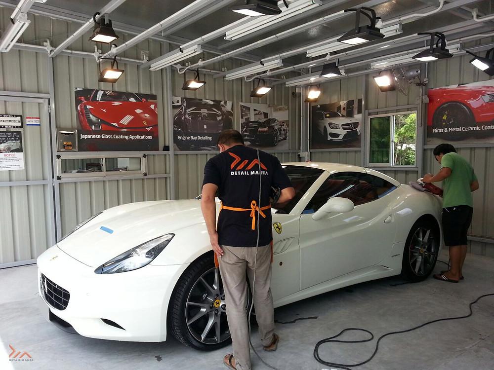 Paint Rejuvenation Services For a Ferrari California