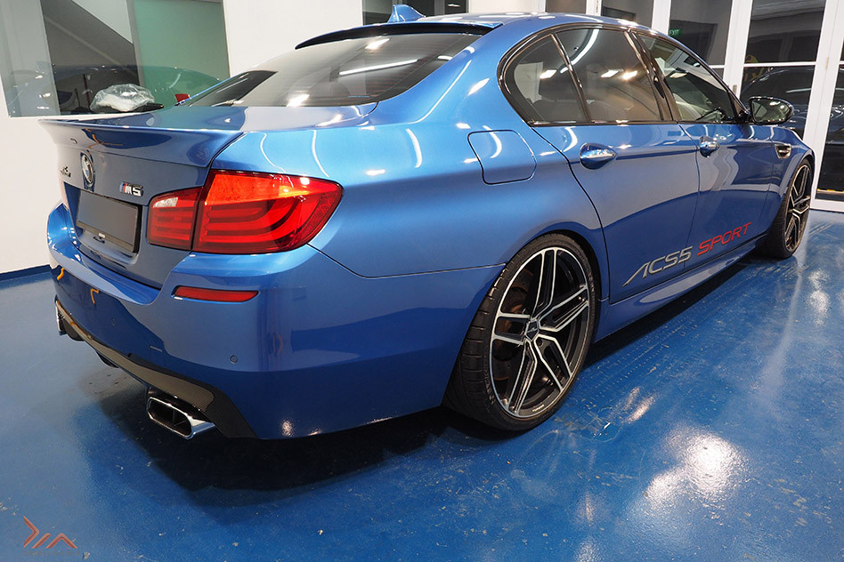 BMW M5 paint protected with Detail Mania Singapore