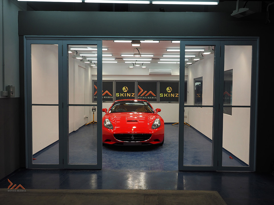 Ferrari California After Glassjacket Paint Coating Application