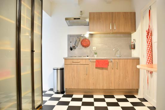 De keuken in het appartement