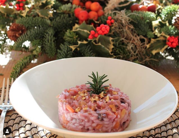 Risotto a base di rainbow carrots