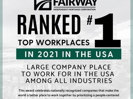 Fairway Named #1 Workplace in the US