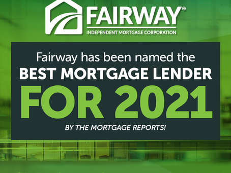 Fairway Ranked A Top Mortgage Lender for 2021
