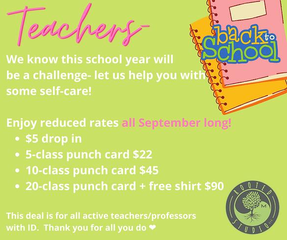 September teacher special