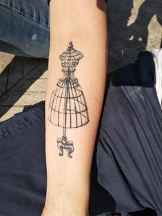 Silvia's Mannequin tattoo