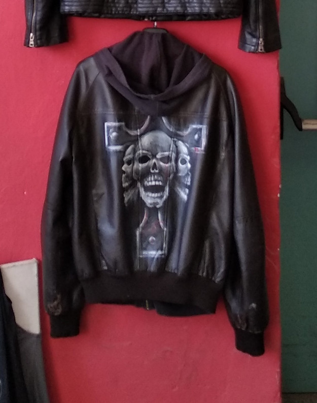 Handpainted Leather Jacket