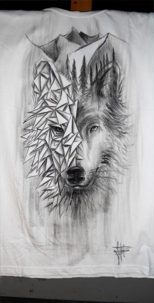Wolf_Handpainted T Shirt