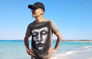 Tattoo Line Handpainted T Shirt.jpeg