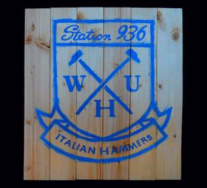 WHU, Painted on wood