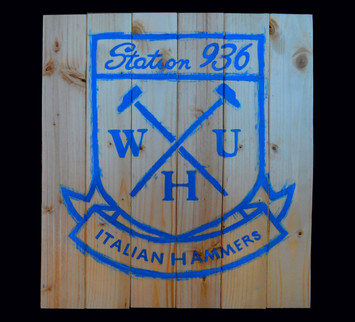 WHU, Painted on wood
