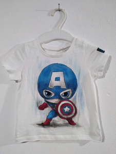 Mini Capitan America t-shirt dipinta a m