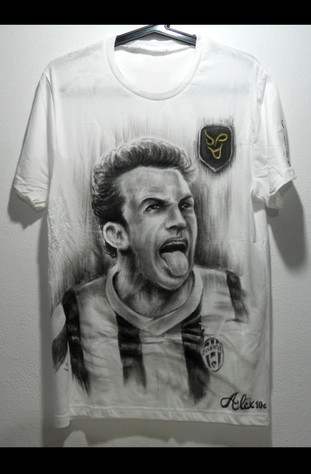 Alex Del Piero Handpainted T Shirt