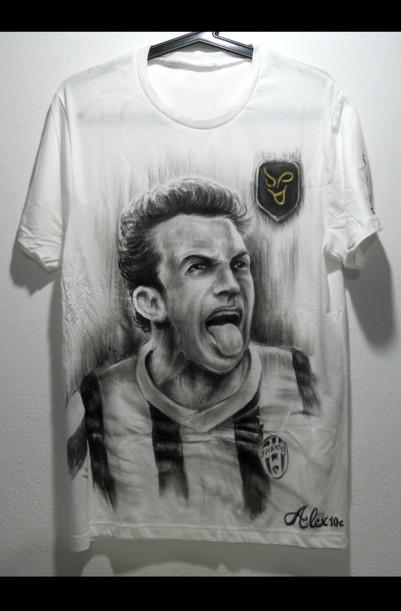 Alex Del Piero Handpainted T Shirt.JPG