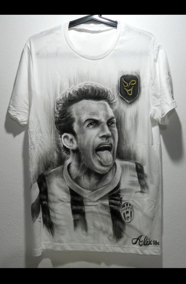Alex Del Piero Handpainted T Shirt