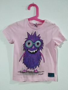 Muppets t-shirt dipinta a mano rosa (1).