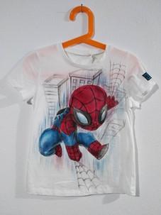 Mini Spiderman t-shirt dipinta a mano bi