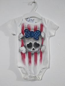 Teschio americano body dipinto a mano bi