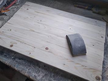 Preparaione pannello in legno