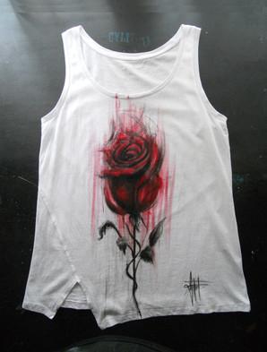 Red Rose TankTop_Rosa__Rossa_Dipinta a m