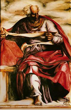 Il profeta Gioele , particolare de la ca