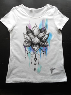 Fiore di loto_Watercolor_Handpainted T S