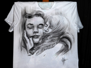 Lovers_Handpainted_T Shirt