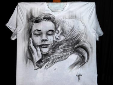 Lovers_Handpainted_T Shirt,disegnata a m