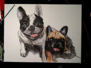 Dogs , Acrilico su tela cm 20x30.jpg
