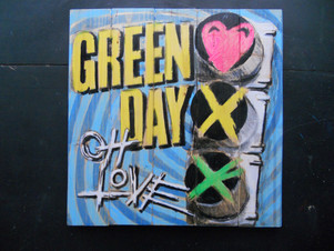 Green Day painted on wood.JPG