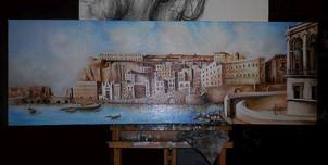 Napoli_veduta da S.Lucia Olio su tela.jp