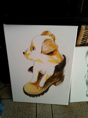 Dog Acrilico su tela cm 20x30.jpg