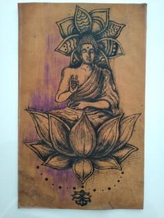 Buddha e fiore di loto