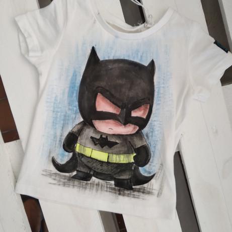 Mini Ciccio Batman t-shirt dipinta a man
