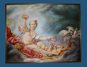 A_J.H.-Fragonard-,-Olio-su-tela---Oil-on