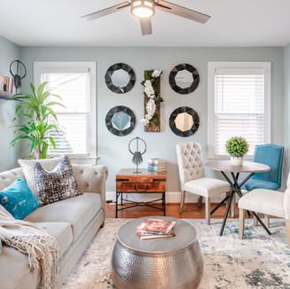 Living Room Interior Rental Photography
