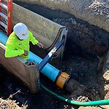 Pipe Repair Construction Work