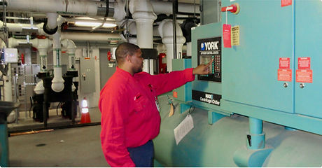 FSI Employee Performing Chiller Maintenance at Scott Air Force Base Illinois